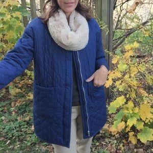Denim quilted coat
