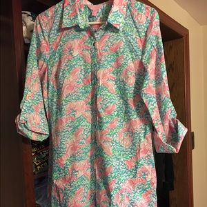 NWT Lilly Pulitzer Lobstah Roll Captiva Tunic-Med