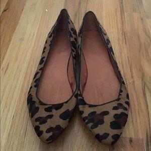 Madewell Sidewalk Skimmer Flat leopard print
