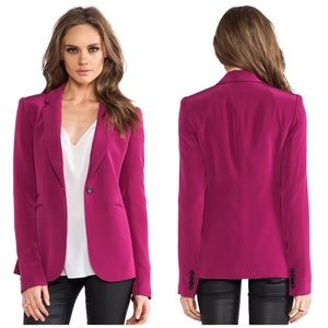 Elizabeth and James Jackets & Blazers - Elizabeth & James Berry Pink Blazer