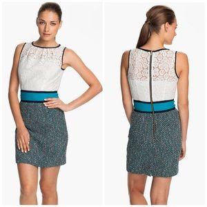 Milly Dresses & Skirts - Milly Lace and Tweed Pencil Dress