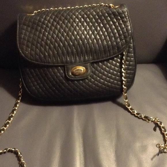 026f51abdf57 Bally Handbags - BALLY Vintage Quitled Bag with Gold Chain a Blue