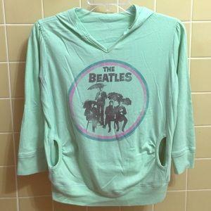 Junk Food Clothing Tops - Beatles w umbrella mint hoodie
