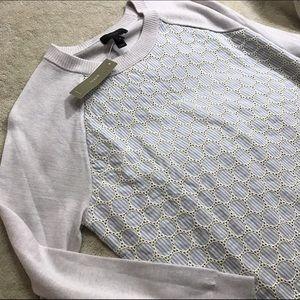 [J. Crew] Seersucker Eyelet Sweater