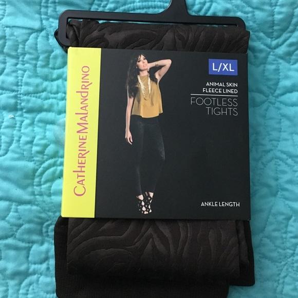 cd4be365b512dd Catherine Malandrino Pants | Nwt Fleece Footless Tights | Poshmark