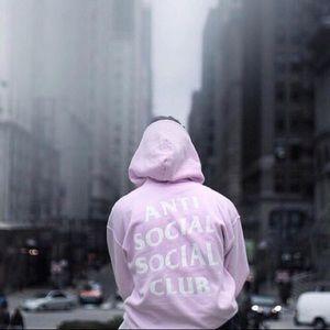 Pink Hoodie by Anti Social Social Club