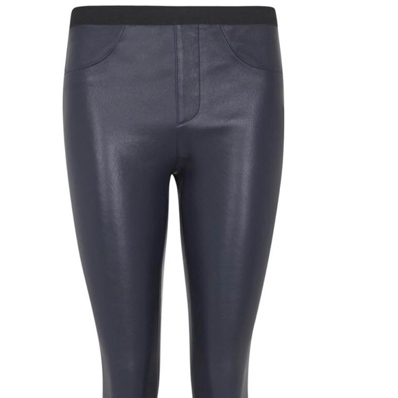 74% off Helmut Lang Pants - Helmut Lang Leather Navy Leather ...