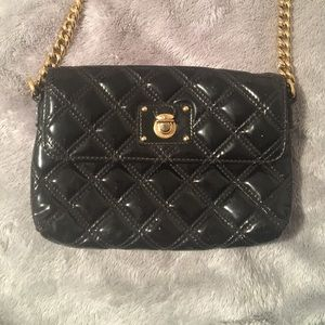 Marc Jacobs Black Patent Leather Quilted Purse