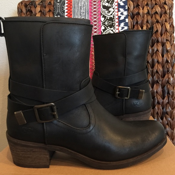 aaea872ac35 UGG Lorraine Black Women's Leather NWT