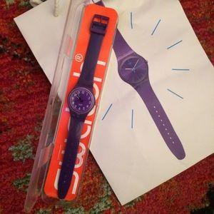Swatch Accessories - Purple Swatch Watch