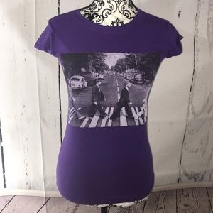 unbranded Tops - Beatles Abby road tee shirt purple small