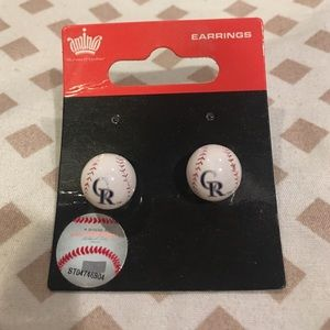 Aminco Jewelry - Colorado Rockies earrings