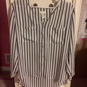 H&M pin stripe blouse