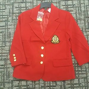 Holiday Red IVY League style Blazer