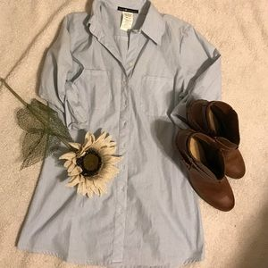 Love Squared Tops - Blue and white striped love squared button down M