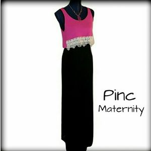 Pinc Premium Dresses & Skirts - 🎉New PINC Maternity S Pink Black Maxi Dress