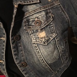 Dollhouse Jackets & Blazers - Dollhouse Cropped Denim Jacket