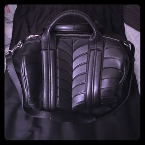 ALEXANDER WANG BLACK AND SILVER ROCCO BAG NWT