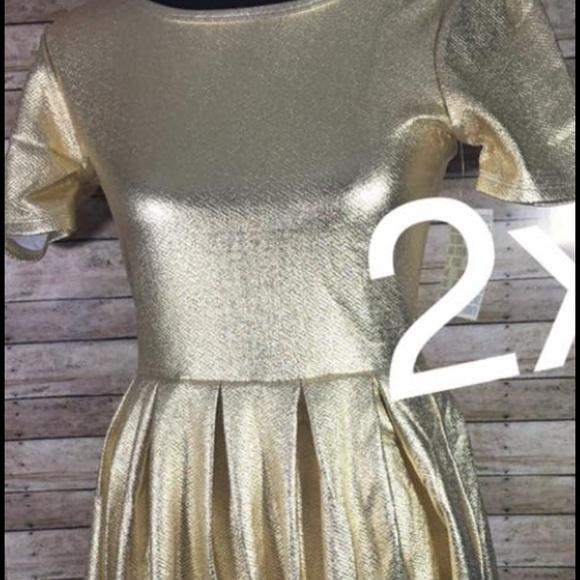 LuLaRoe Dresses & Skirts - Lularoe 2xl gold Amelia