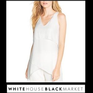 WHBM layered V-neck flowy tunic top. NWT
