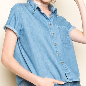 Brandy Melville Denim Top *NEW*