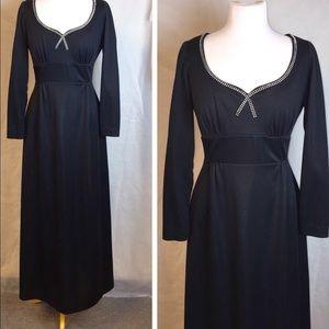 Vintage 70's Rhinestone Gown