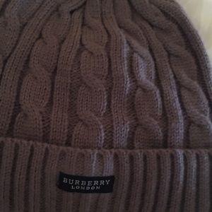 e53f9e49bfb Burberry Accessories - Gray Burberry winter hat