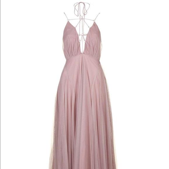 Topshop Dresses Tulle Laceup Maxi Dress Poshmark
