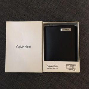 Calvin Klein Accessories - Calvin Klein Leather Trifold Wallet