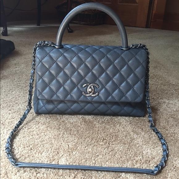 7ede95033ce3 CHANEL Handbags - Authentic Chanel Coco Caviar Kelly Grey Flap Bag!