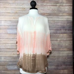 Anthropologie Tops - Anthropologie Language Tie-dye Ombré Sheer Blouse