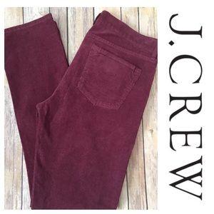 J. Crew Pants - J.Crew Matchstick Corduroy Purple Wine Burgundy