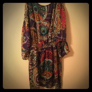 Flowered print dress