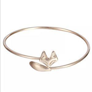 Jewelry - Gold Tone Sleek Fox Bangle Bracelet