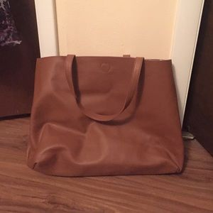 poshmark  Handbags - Reversible HUGE leather bag.