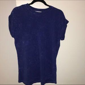 F21 Blue acid wash tshirt