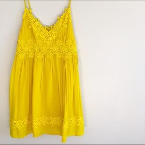 Topshop Dresses & Skirts - Topshop Strappy Appliqué Babydoll Dress