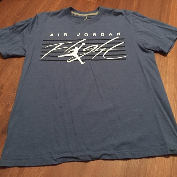 f1adfd8de040f4 Jordan Other - Mens air Jordan flight shirt blue white sz large
