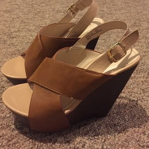 bamboo Shoes - Bamboo tan wedges