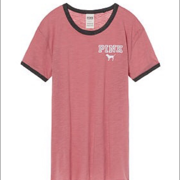 19% off PINK Victoria's Secret Tops - L VS/Pink Ringer Tee from ...