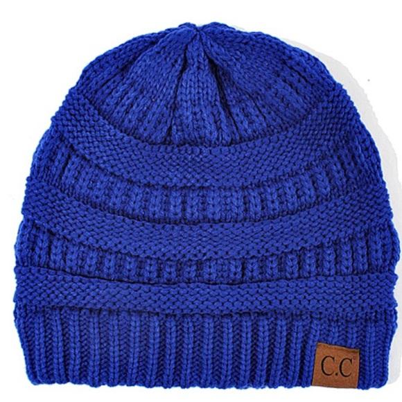 f214eb0b8 Royal Blue CC Beanie Boutique