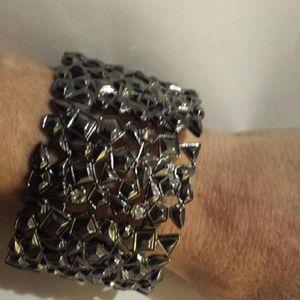 Jewelry - *SALE* Thick Stretch Bracelet Charcoal Tone