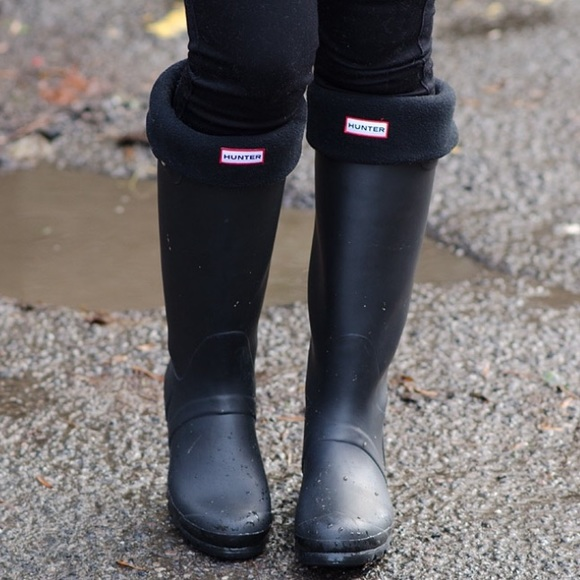 hunter boots shoes tall black matte hunters poshmark