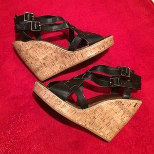 Soda Shoes - SODA Cork heel wedge