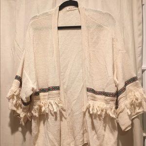 Boho fringed Cardigan H & M Coachella