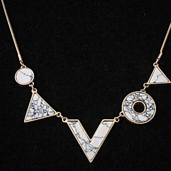 Jewelry - 🎹📿👂🏼Geometric Howlite Necklace Set