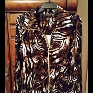 Activology Jackets & Blazers - Activology Velour Animal Print Jacket