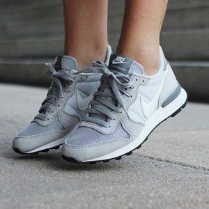 Nike Grey Suede Internationalist Sneakers