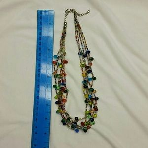 Multi colored beads necklace