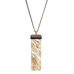 Jewelry - 🌎📿 Beige Natural & Pavé Stone Pendant Necklace